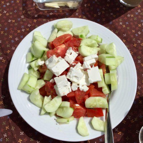 Salat und Leinöl